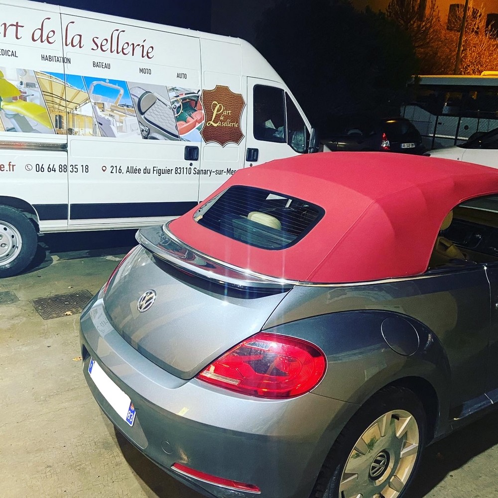 Remplacement capote Coccinelle cabriolet