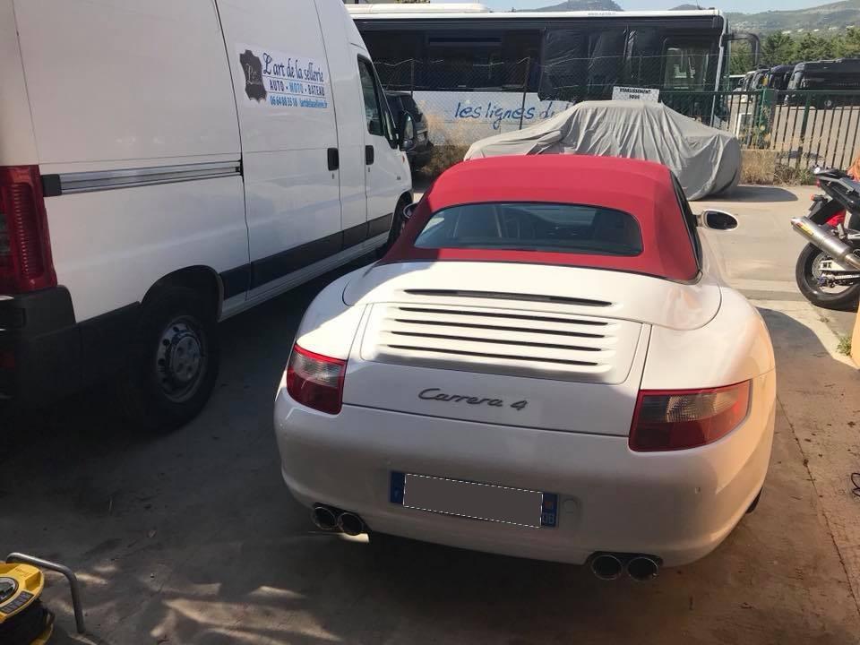remplacement capote Porche 997 cabriolet Toulon Marseille Sanary var 83
