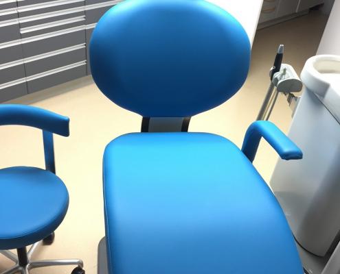 changement revêtement fauteuil de dentiste